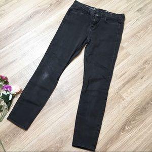 Madewell Skinny Skinny Ankle Jeans Dark Grey Wash